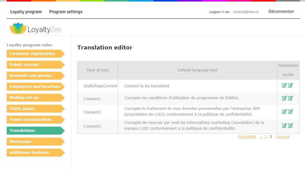 Loyalty program translation module